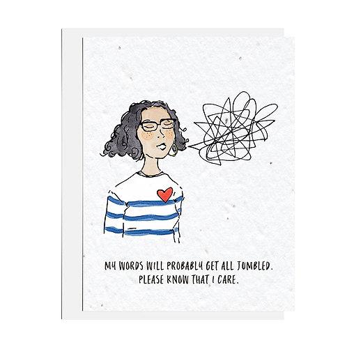 Wildflower seed card - Jumbled Words