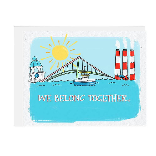 Wildflower seed card - We Belong Together