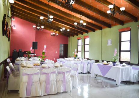 Salon decorado para eventos en Hotel Las Candelas