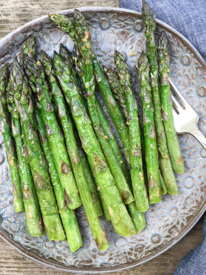 Sautéed Ontario Asparagus with Savoury Miso Butter