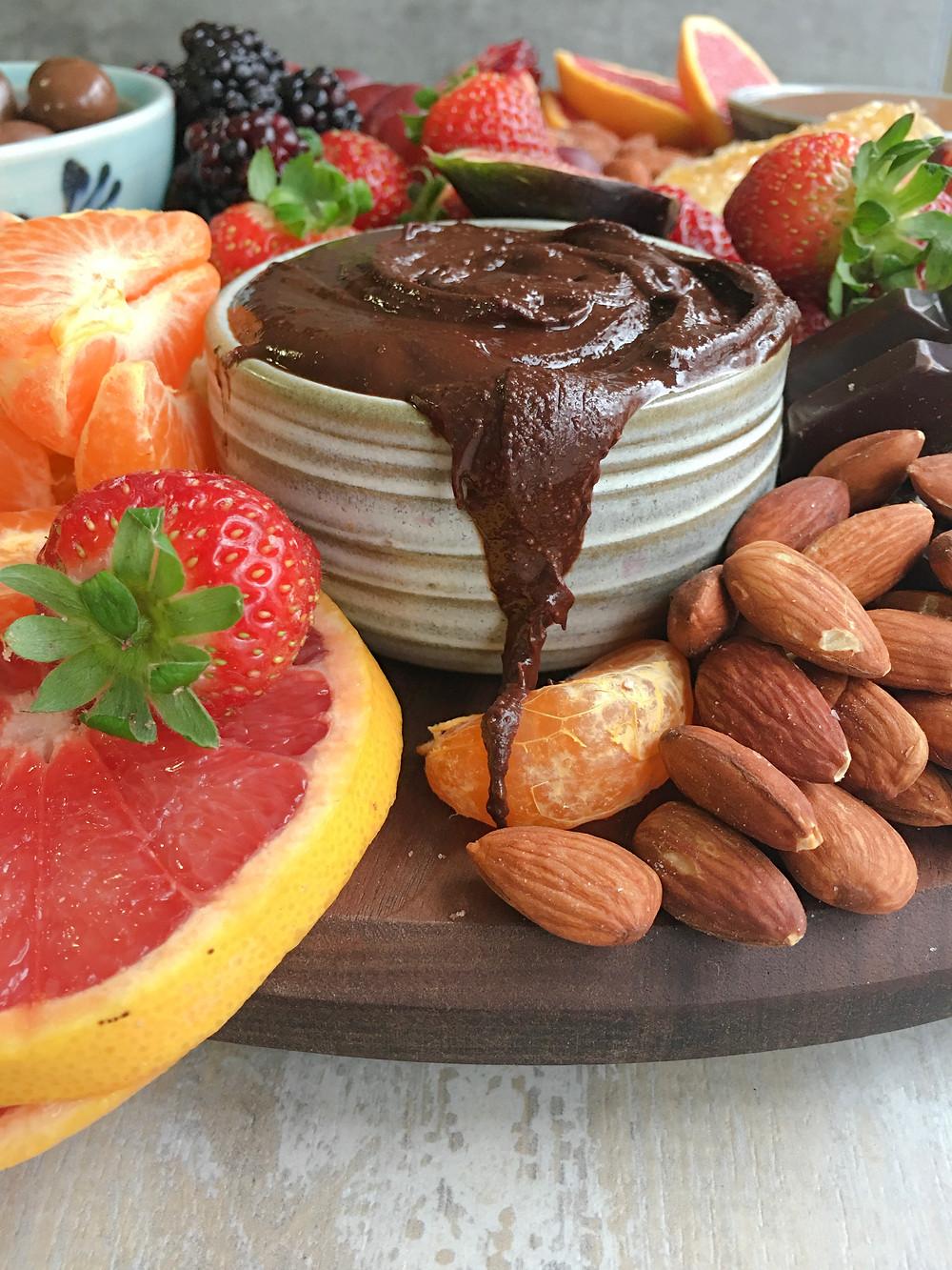 chocolate almond dip