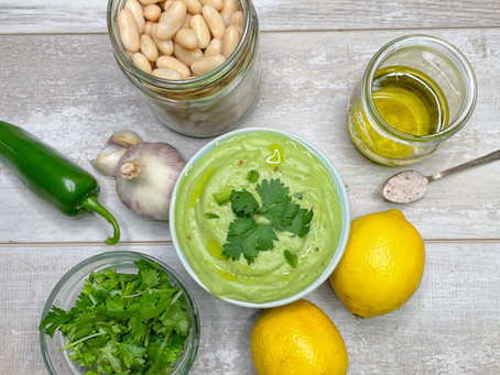 Lemony Jalapeno White Bean Dip