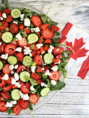 Simple Food: Strawberry, Cucumber and Red Pepper Salad with Maple Drizzle