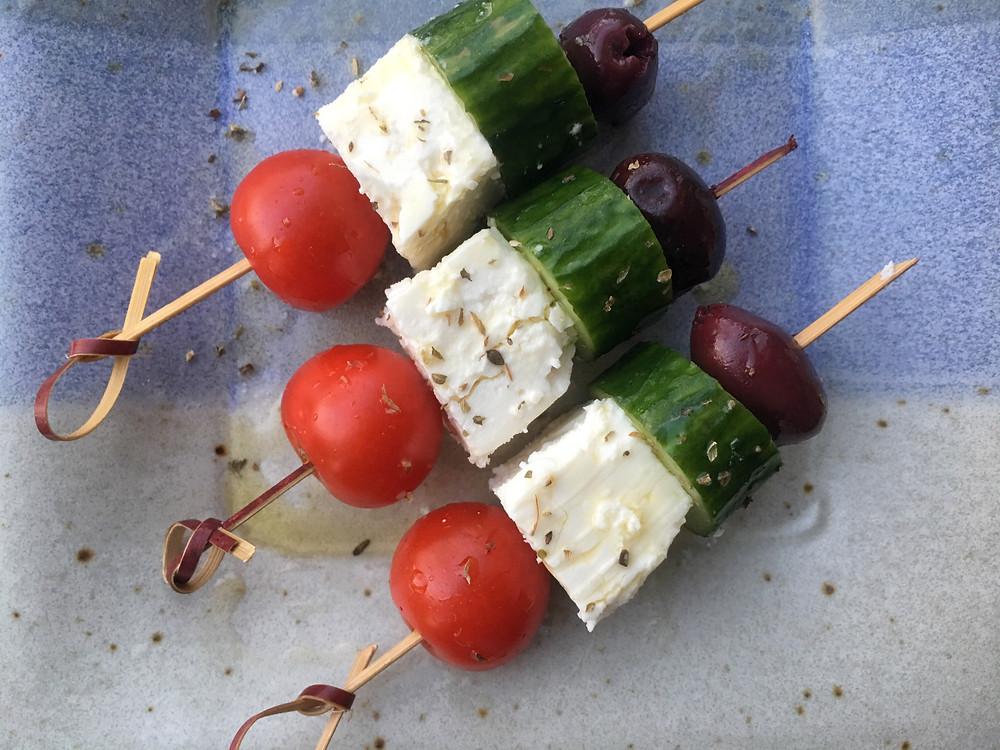 greek salad sticks