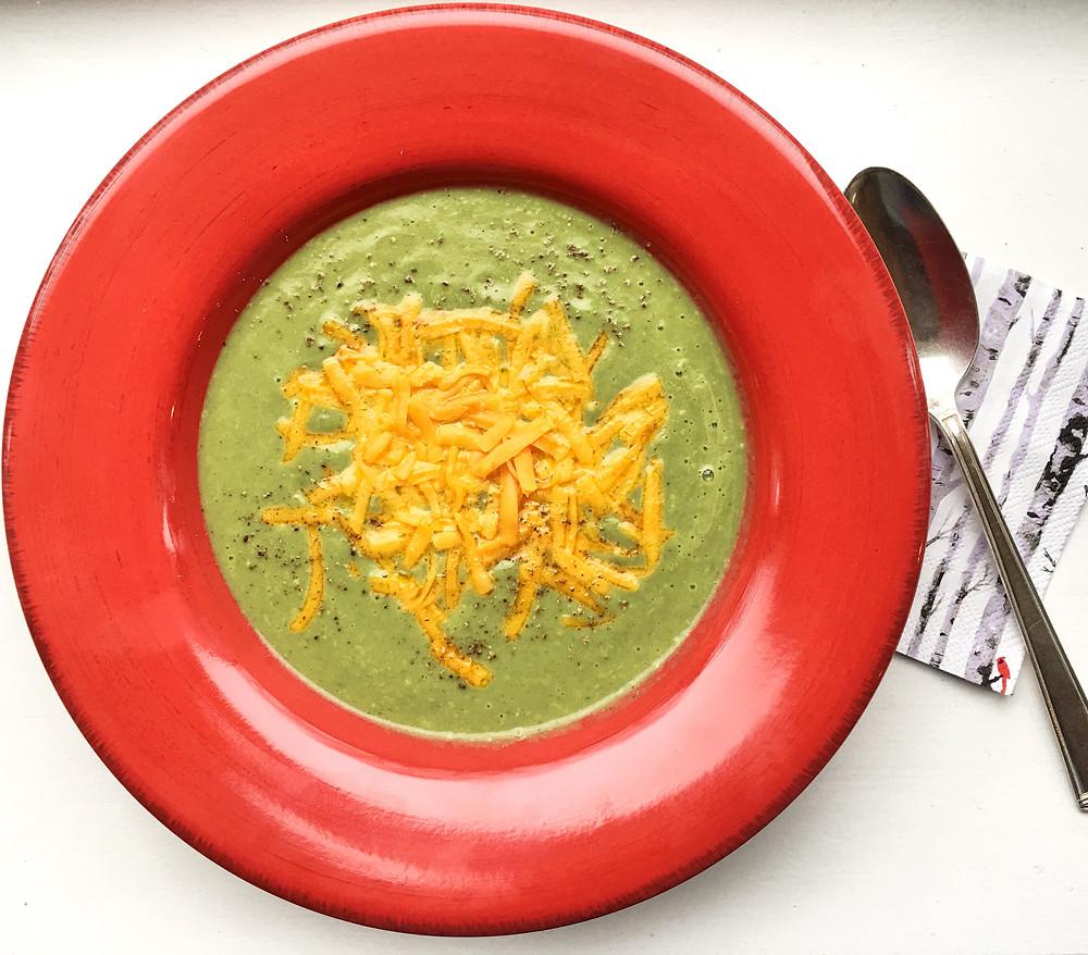 vibrant broccoli soup