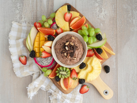 Can eating fruit make you happy? {this dark chocolate fruit dip might!}