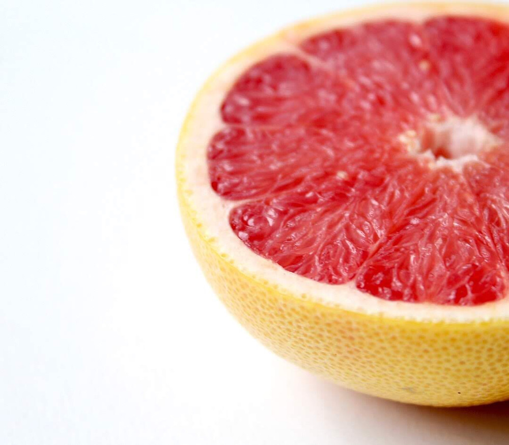 red grapefruit half