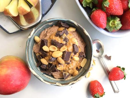 Chocolate Peanut Butter Fruit Dip