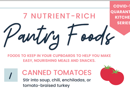 7 Nutrient-Rich Foods For the Pantry