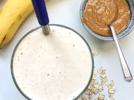 Peanut Butter Banana Smoothie {with a surprise ingredient}