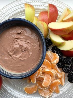 Real Food Fuel: Creamy Dreamy Dark Chocolate Almond Butter Fruit Dip