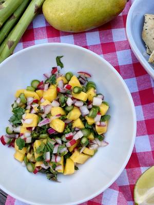 Mango, Asparagus and Radish Salsa