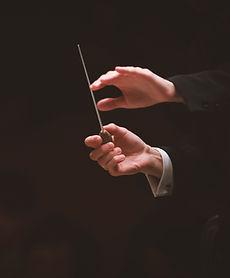 オーケストラで指揮