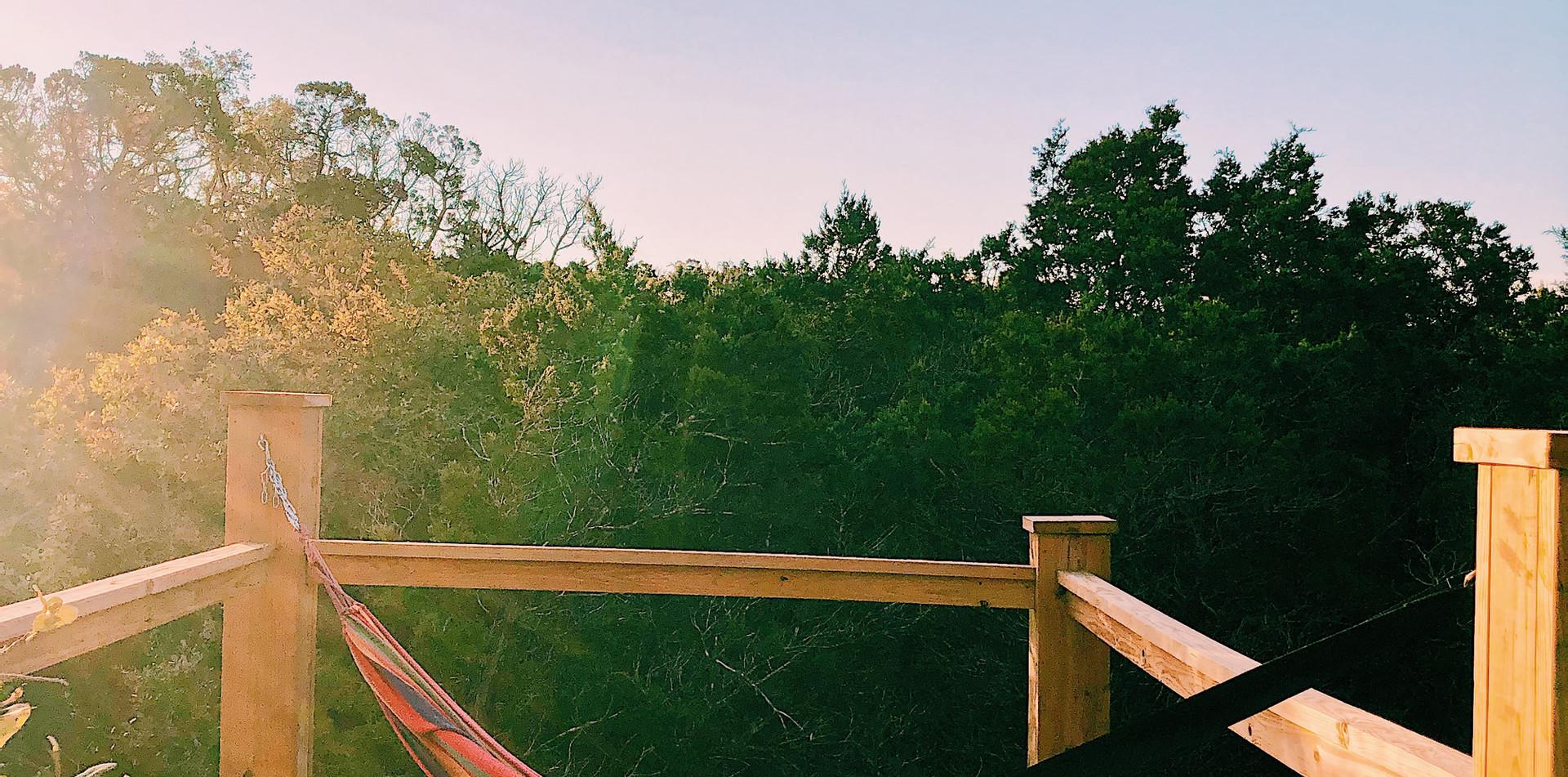 Hammock on rooftop deck