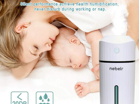 Nebelr Humidifier and Air Purifier - Ultrasonic Cool Mist with LED Lights - Designed in Japan
