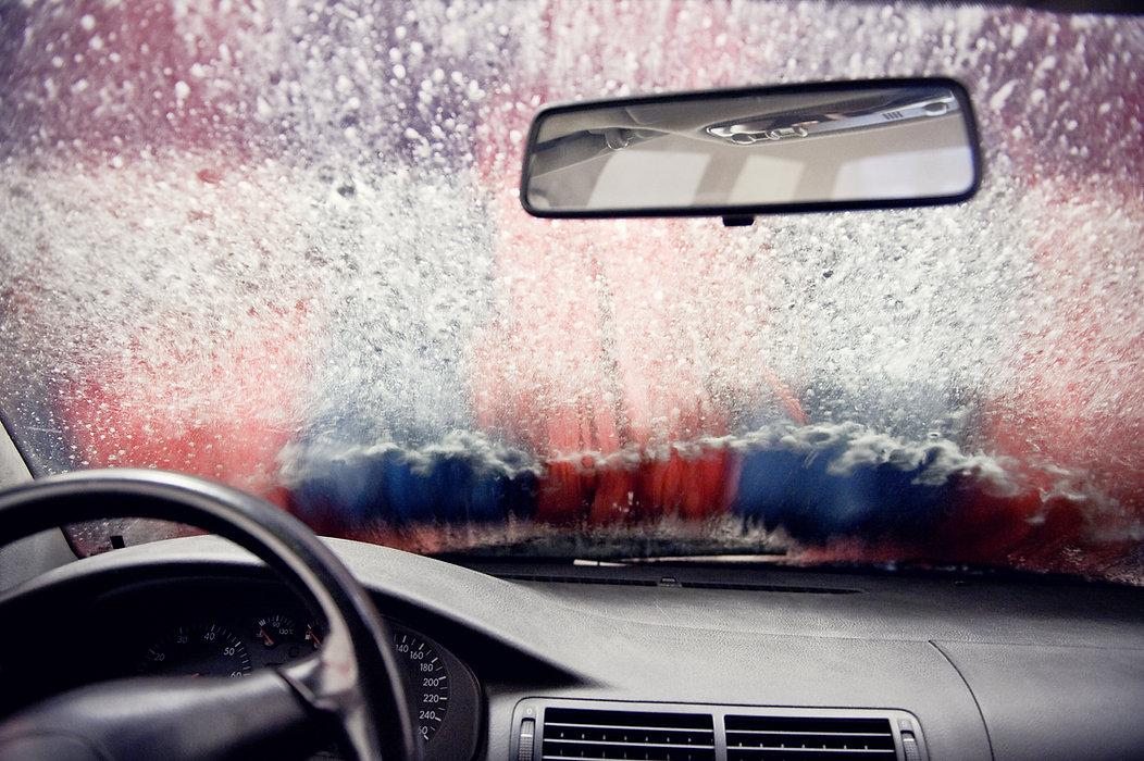 En el lavado de coches