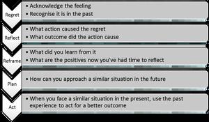 Regret-Reflect Process