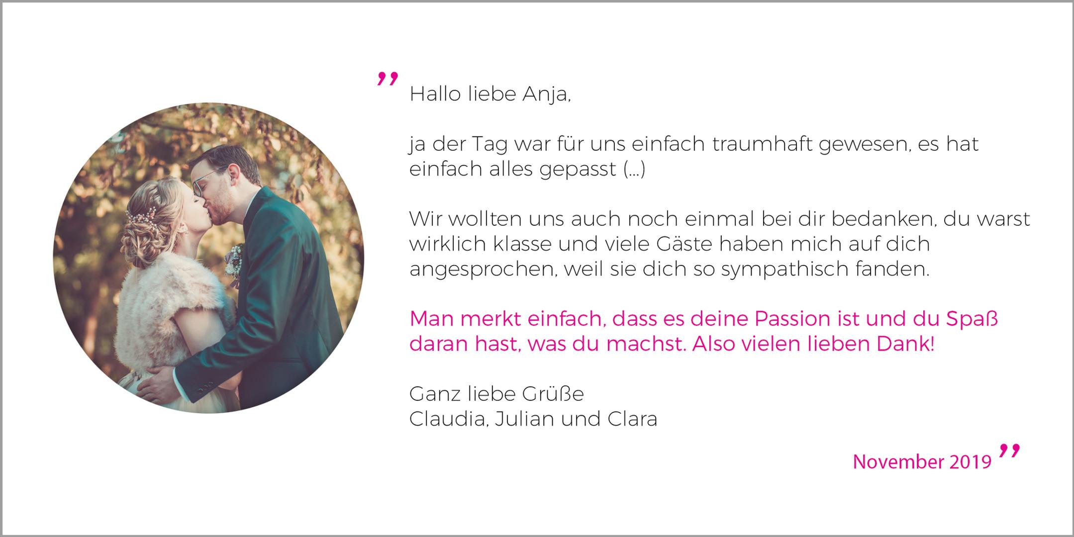 Kundenstimmen Galerie_ClaudiaJulian_1119
