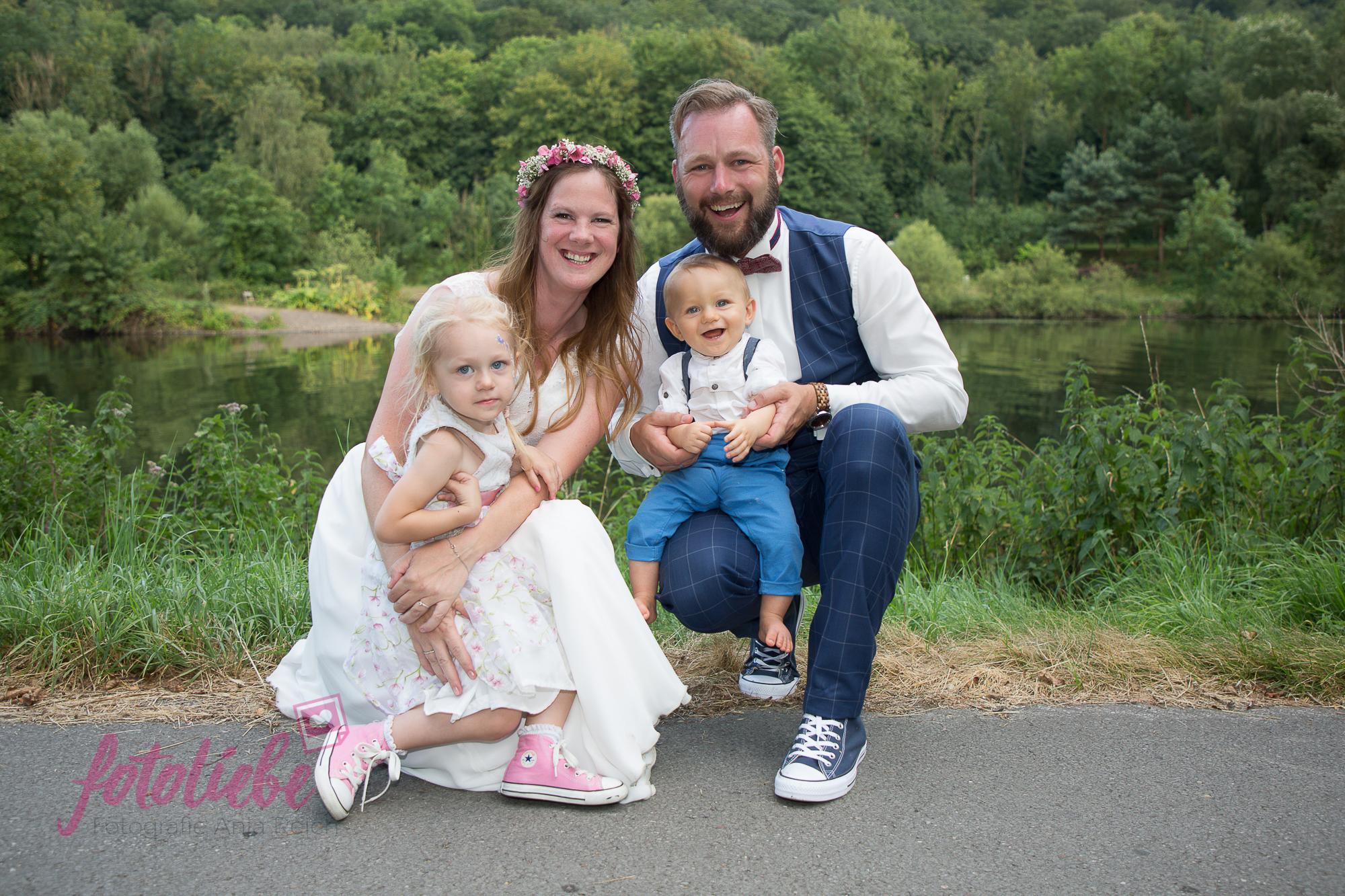 Familienfoto - heiraten mit Kind