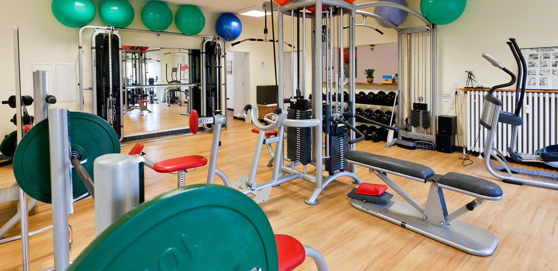 Physiotherapie Fitnessraum