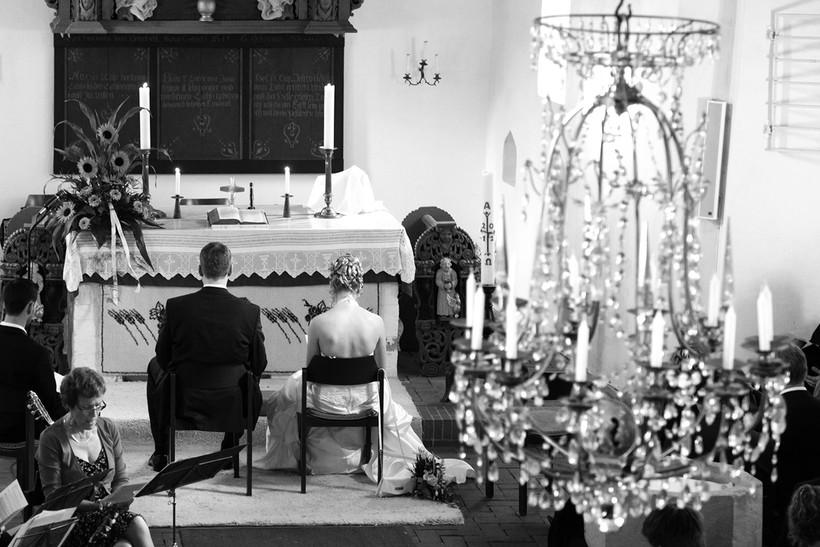 Blick in die Kirchliche Trauung