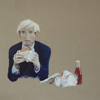 Andy Warhol eating a hamburger, 2018