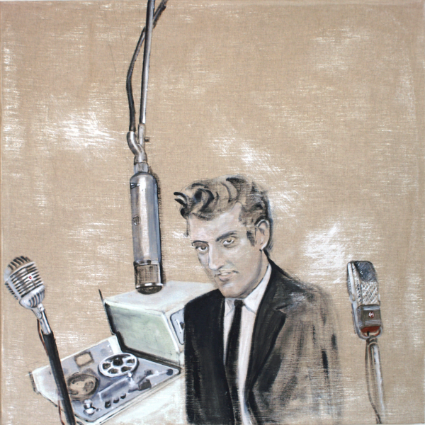 study for Joe Meek surrounded by microphones, 2015