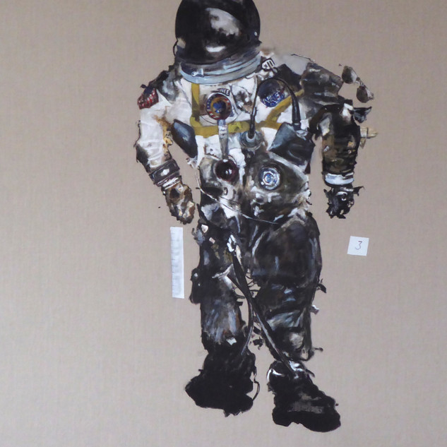 the fire (Astronaut White's flight suit), 2018.