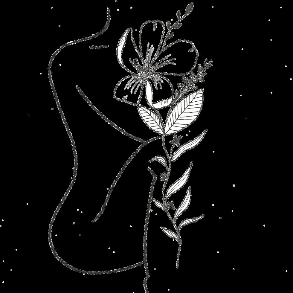 Femme nue floral