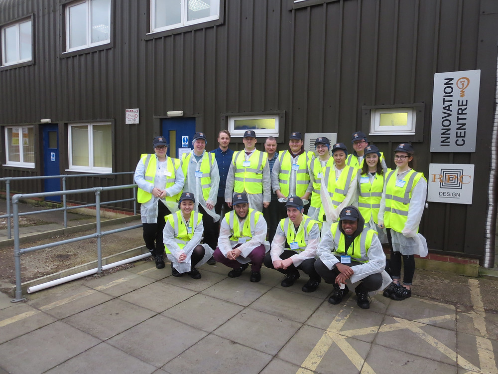 Our enthusiastic students, dressed appropriately for the working environment at RPC