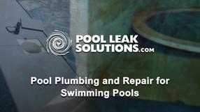 Pool Plumbing and Repair for Swimming Pools
