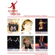 Web design for Florence Mathoux, tap dancer, teacher and choreographer.