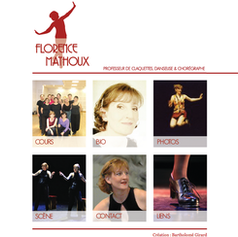 Web design for Florence Mathoux, tap dancer, teacher and choreographer.