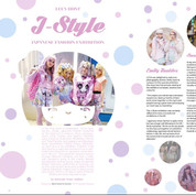 """Layout for article """"J-Style"""" in LCCA Magazine, London"""
