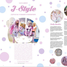 "Layout for article ""J-Style"" in LCCA Magazine, London"