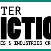 "Logo for Master's degree ""FICTION"" at University of Nîmes, France"