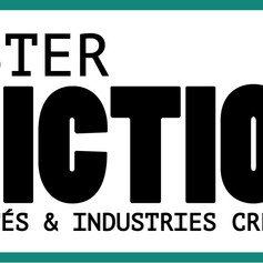 "Logo for Master's degree ""FICTION"" at University of Nîmes, France"