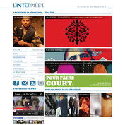 "Web design for cultural website ""L'Intermède"""