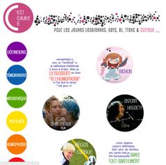 """Web design for LGBTQ teenagers website """"C'est Comme Ça"""""""