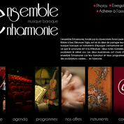 Web design for the website of Ensemble Enharmonie (classical music orchestra)