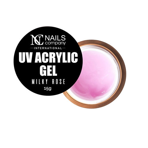 UV Acrylic Gel Milky Rose