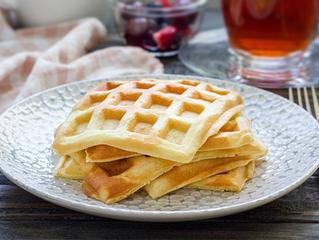 Receita de Waffle de Maçã Integral