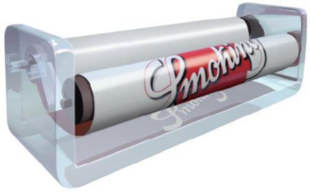 Maquinita Plástico Smoking de 78 mm c/12 maquinitas