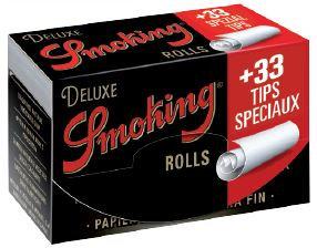 Cajita Smoking Deluxe Rolls + Filtros c/24 rollos