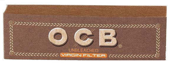 Cajita Filtros Cartón OCB Virgin c/25 libritos