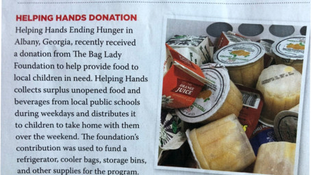 Paula Dean's The Bag Lady Foundation donates funds to the Albany, GA HHEH chapters