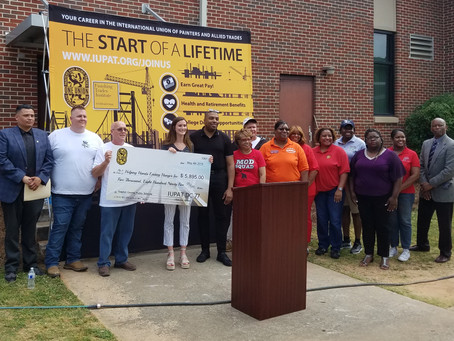 International Union of Painters and Allied Trades District Council 77 Donates $5,895 to HHEH