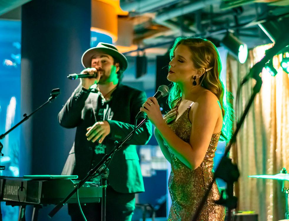 Faith Schueler with artist Greg Keys