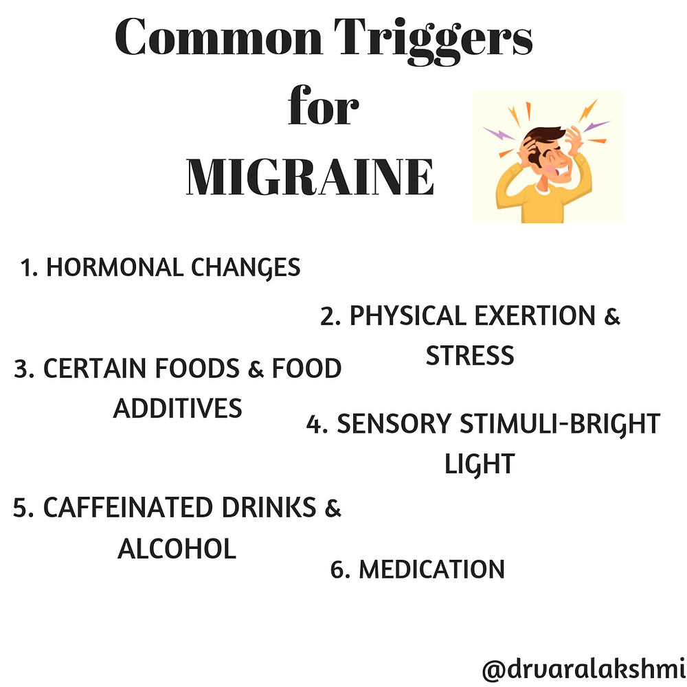 Triggers for Migraine