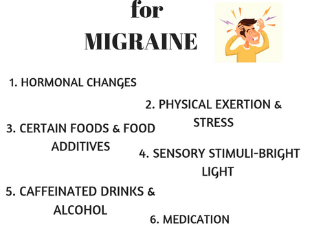 Migraine, triggers & its management!